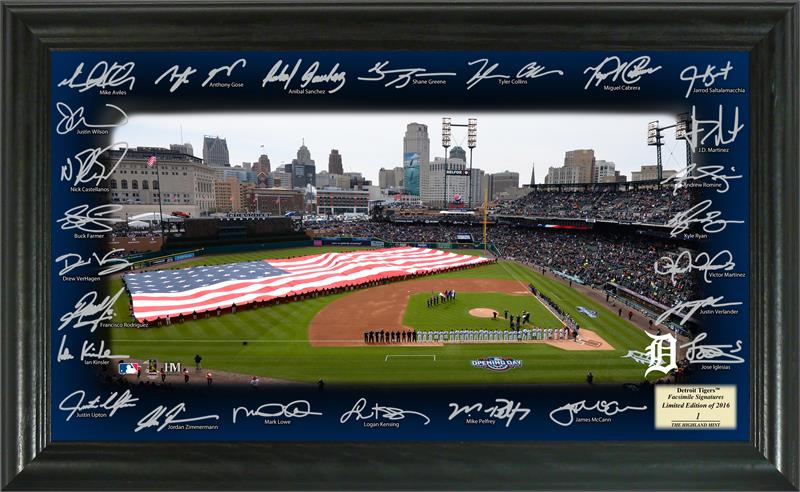 Detroit Tigers Framed Signature Field - 2016