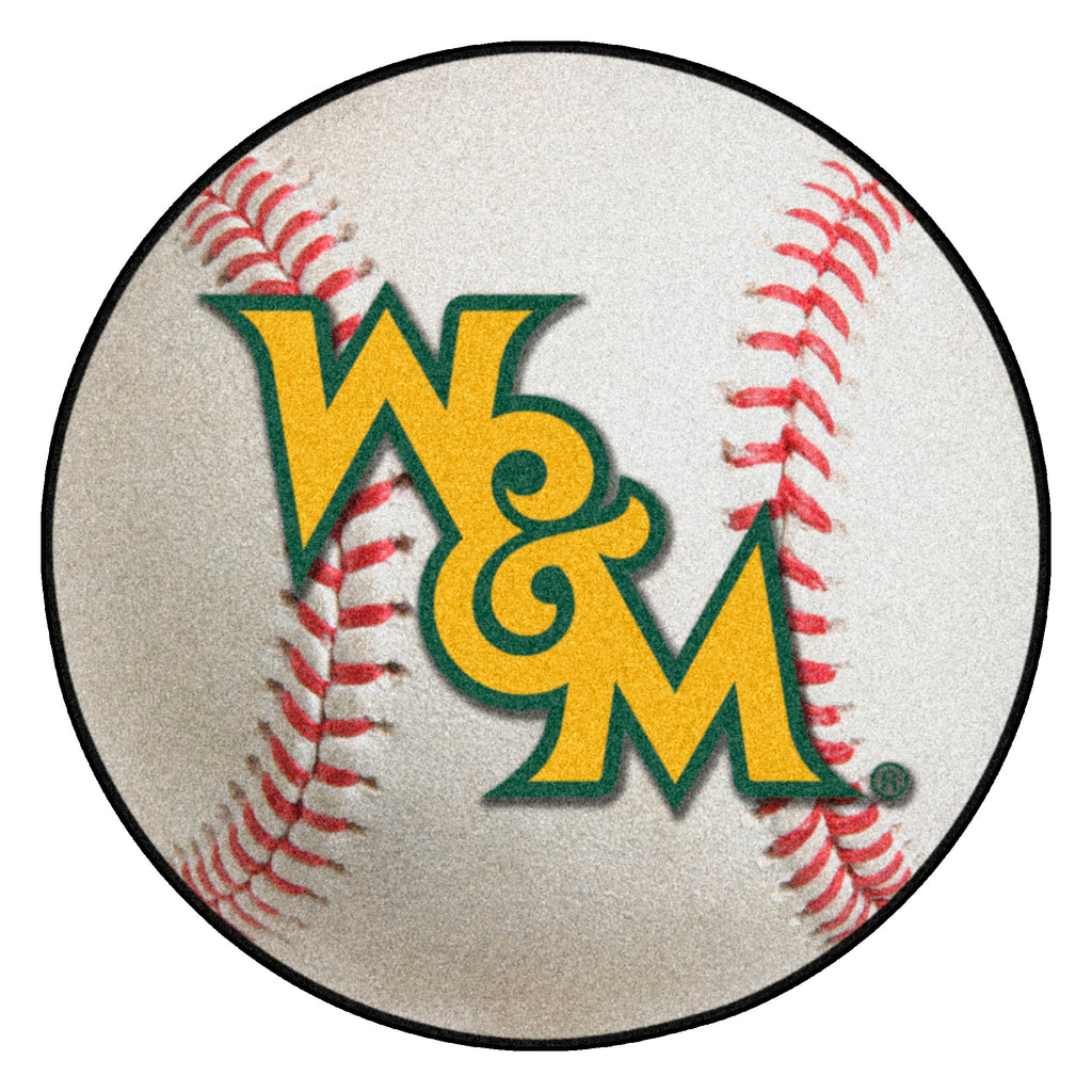 "College of William & Mary Baseball Mat 27"" diameter"""