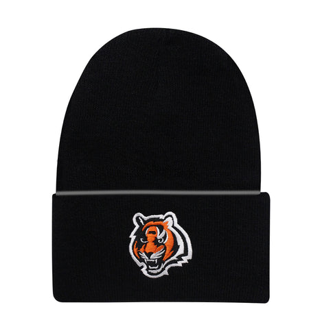 Cincinnati Bengals Beanie Knit Cuffed Black Design