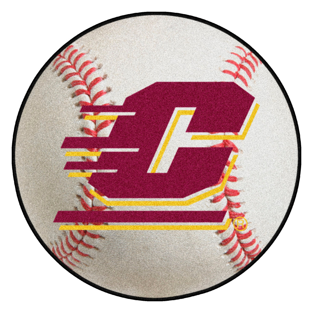"Central Michigan University Baseball Mat 27"" diameter"