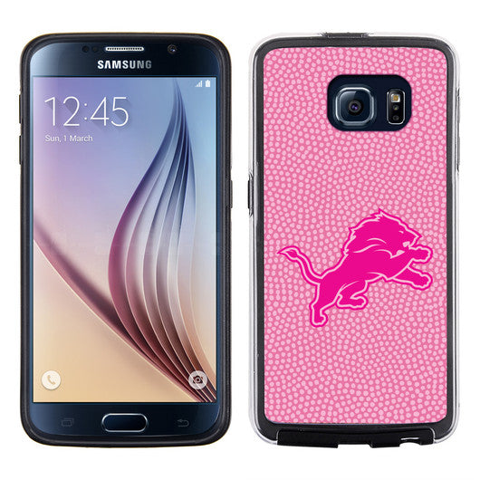 Detroit Lions Pink NFL Football Pebble Grain Feel Samsung Galaxy S6 Case