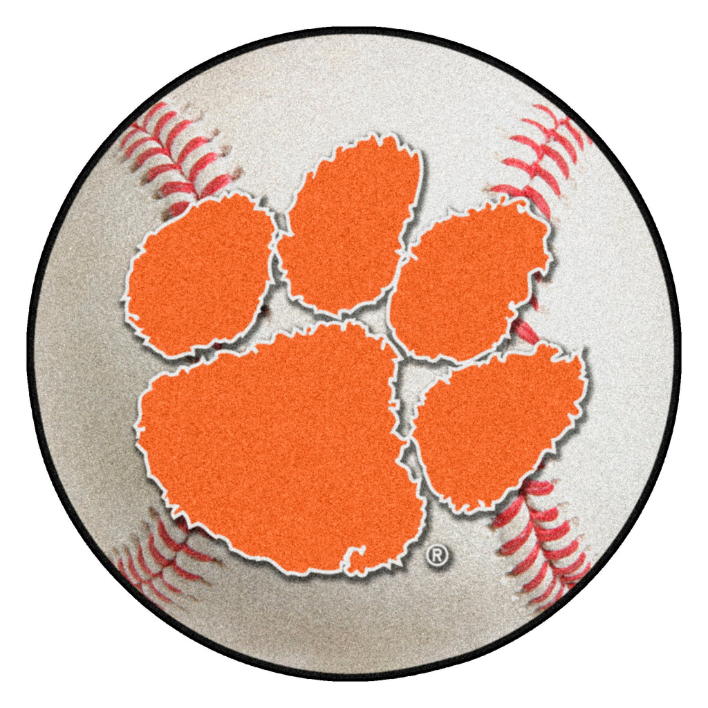 "Clemson University Baseball Mat 27"" diameter"