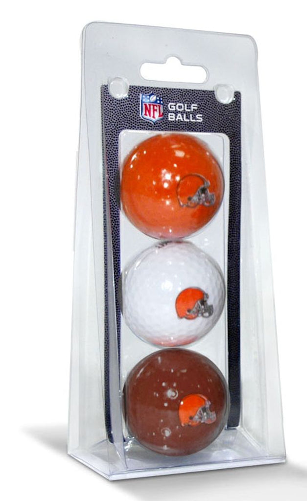 Cleveland Browns 3 Pack of Golf Balls