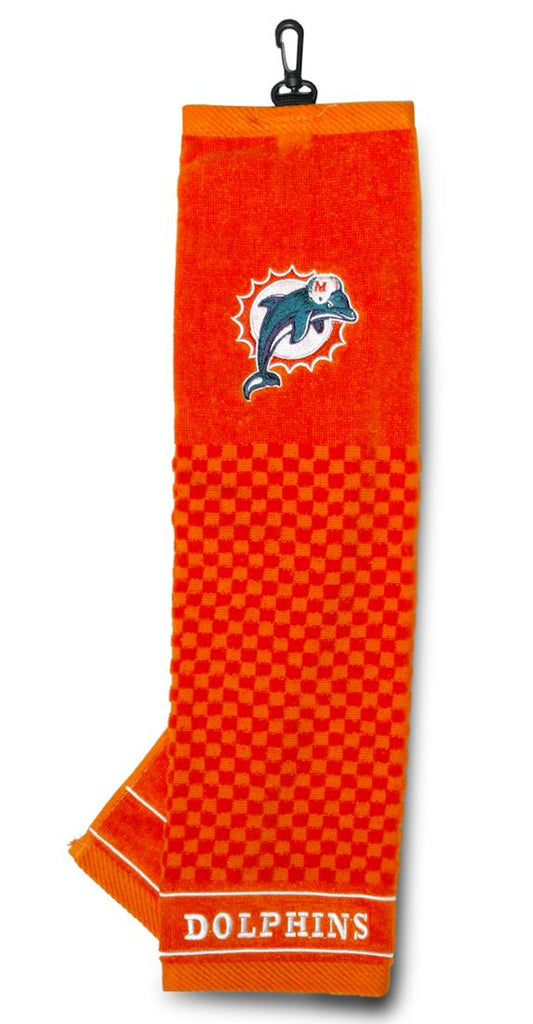 "Miami Dolphins 16""x22 Embroidered Golf Towel"""