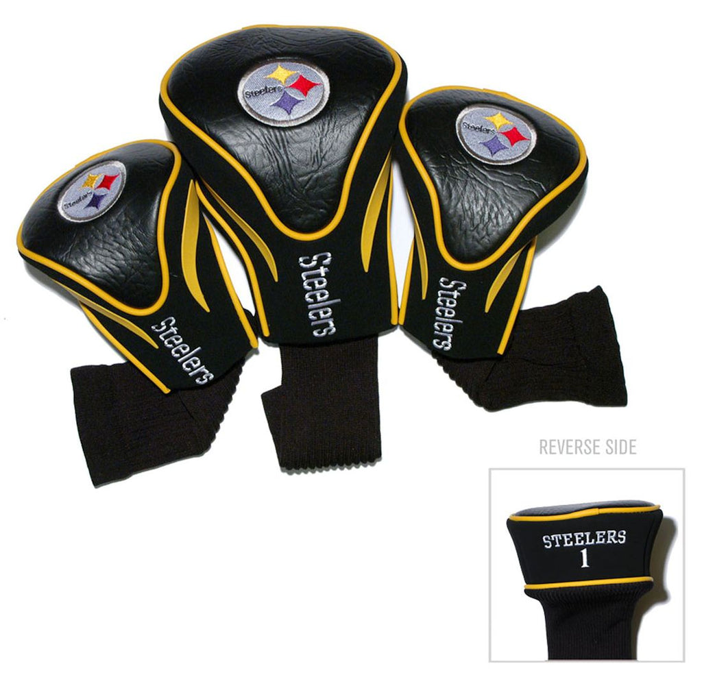 Pittsburgh Steelers Golf Club 3 Piece Contour Headcover Set