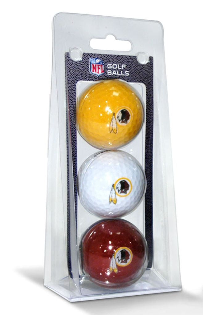 Washington Redskins 3 Pack of Golf Balls