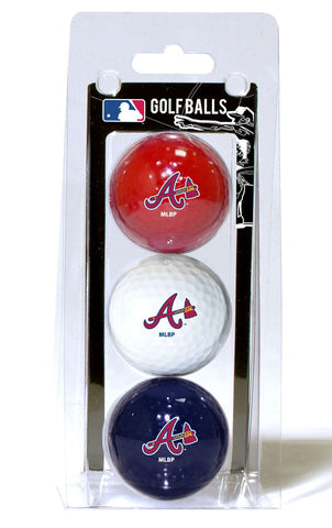 Atlanta Braves 3 Pack of Golf Balls