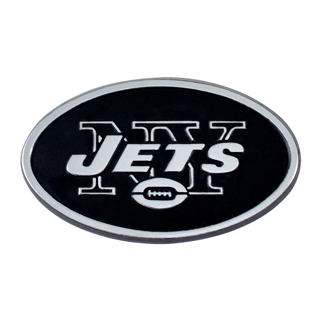 New York Jets Auto Emblem Premium Metal Chrome