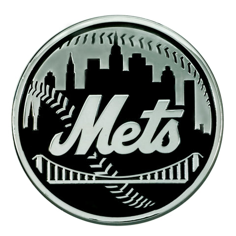 New York Mets Auto Emblem Premium Metal Chrome