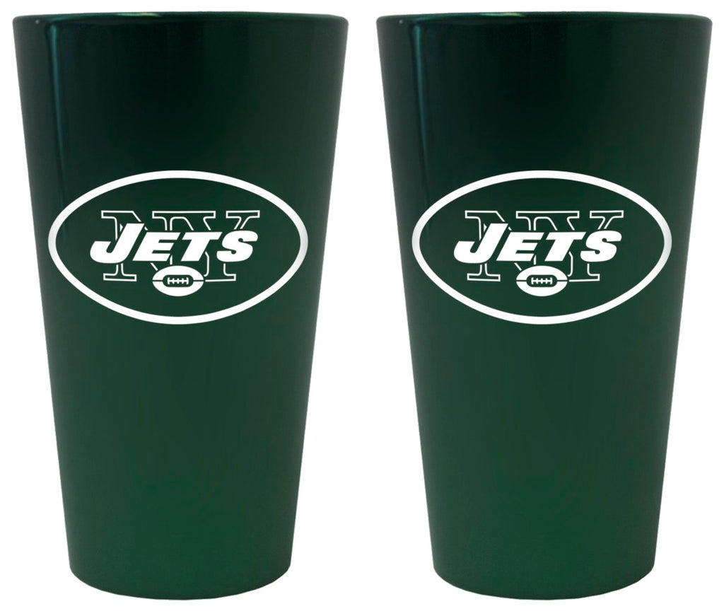 New York Jets Lusterware Pint Glass - Set of 2
