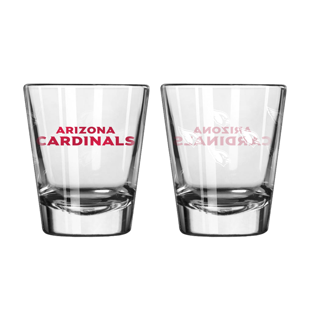 Arizona Cardinals Shot Glass - 2 Pack Satin Etch