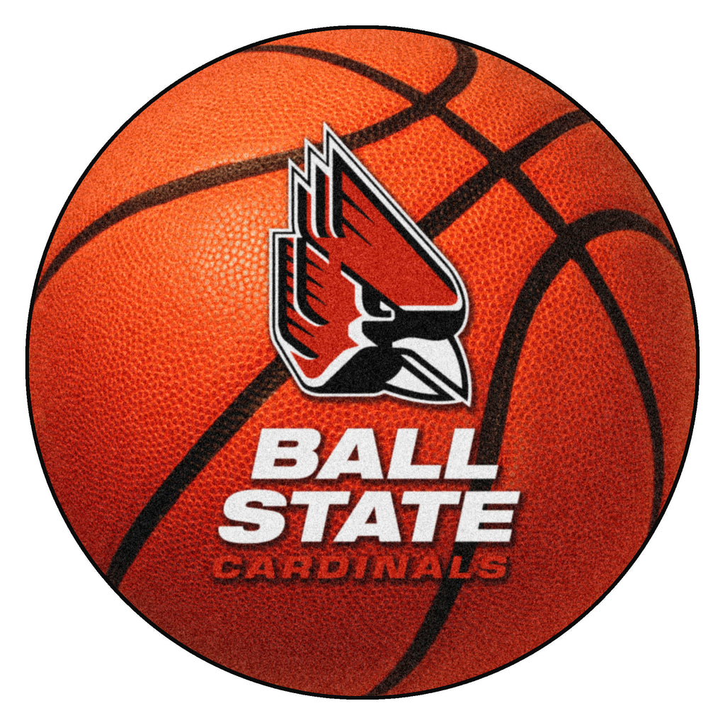 "Ball State University Basketball Mat 27"" diameter"