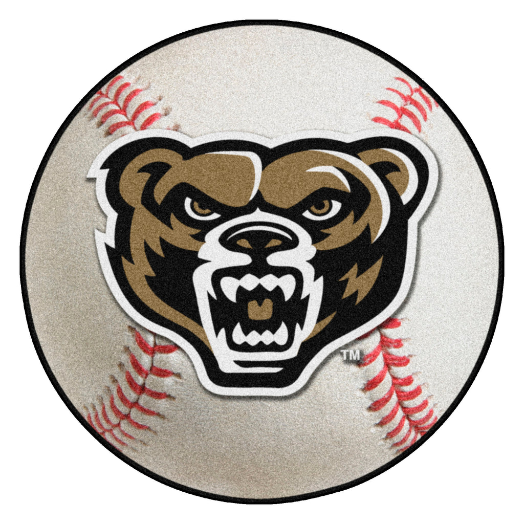 "Oakland University Baseball Mat 27"" diameter"