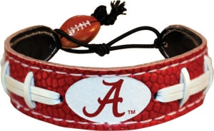 Alabama Crimson Tide Bracelet Team Color Football A Logo