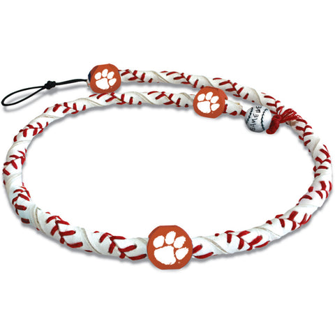 Clemson Tigers Classic Frozen Rope Baseball Necklace