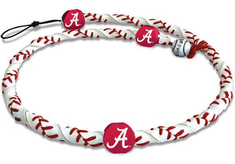 Alabama Crimson Tide A Logo Classic Frozen Rope Baseball Necklace