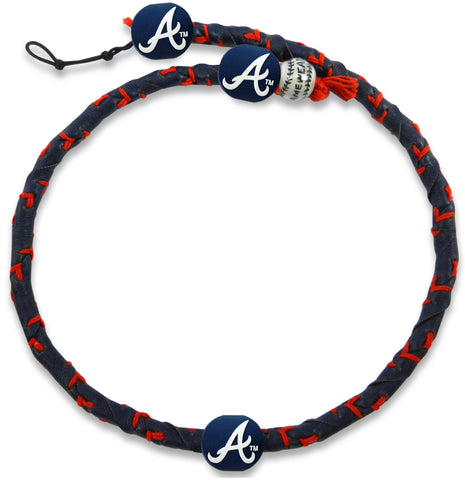 Atlanta Braves Team Color Frozen Rope Baseball Necklace