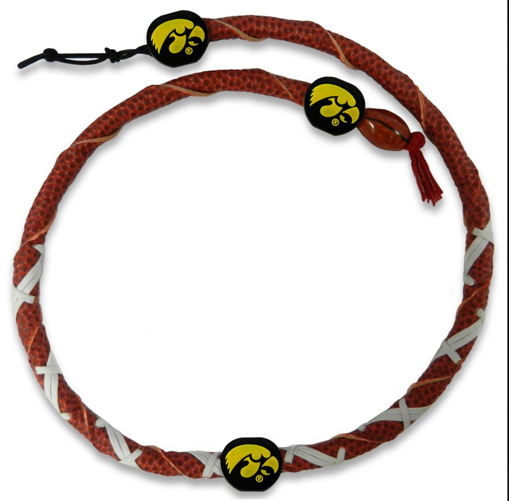 Iowa Hawkeyes Spiral Football Necklace
