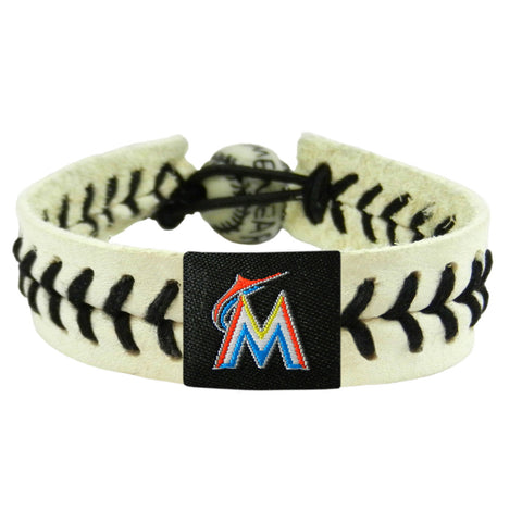 Miami Marlins Genuine Baseball Bracelet