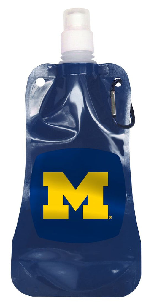 Michigan Wolverines 16 ounce Foldable Water Bottle
