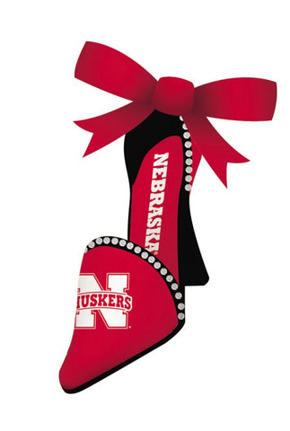 Nebraska Cornhuskers Ornament High Heeled Shoe Design