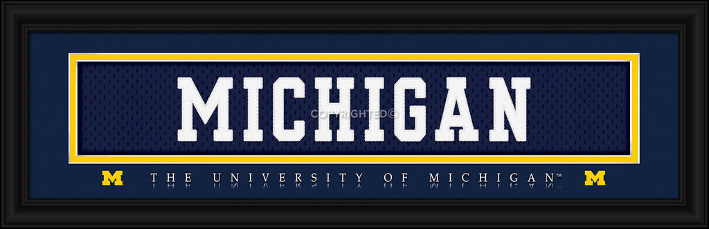 Michigan Wolverines Stitched Uniform Slogan Print - MICHIGAN