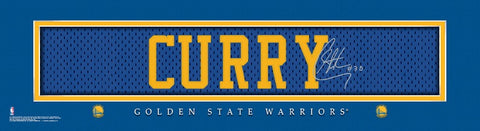 Golden State Warriors Print 8x24 Signature Style Stephen Curry