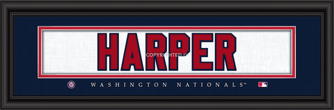"Washington Nationals Bryce Harper Print - Signature 8""x24"""