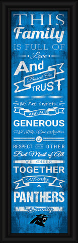 "Carolina Panthers Family Cheer Print 8""x24"""