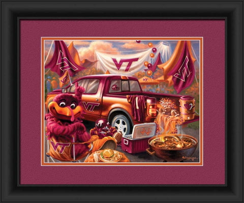 Virginia Tech Hokies Print 15x18 Tailgate Style