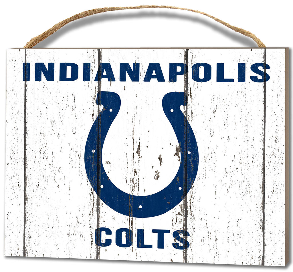 Indianapolis Colts Small Plaque - Weathered Logo