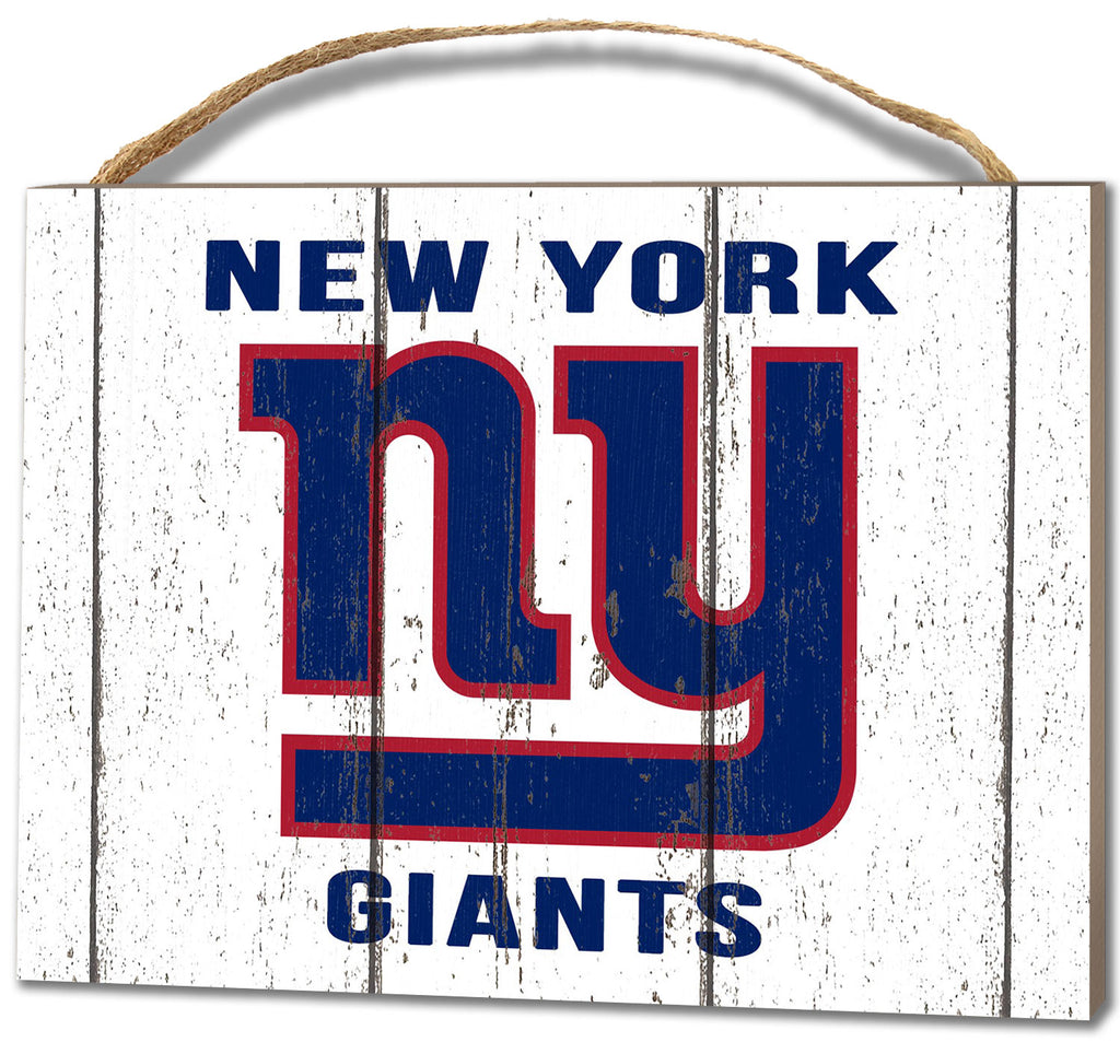 New York Giants Small Plaque - Weathered Logo