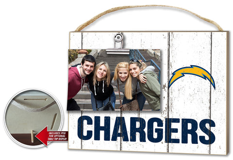 San Diego Chargers Clip It Weathered Logo Photo Frame -
