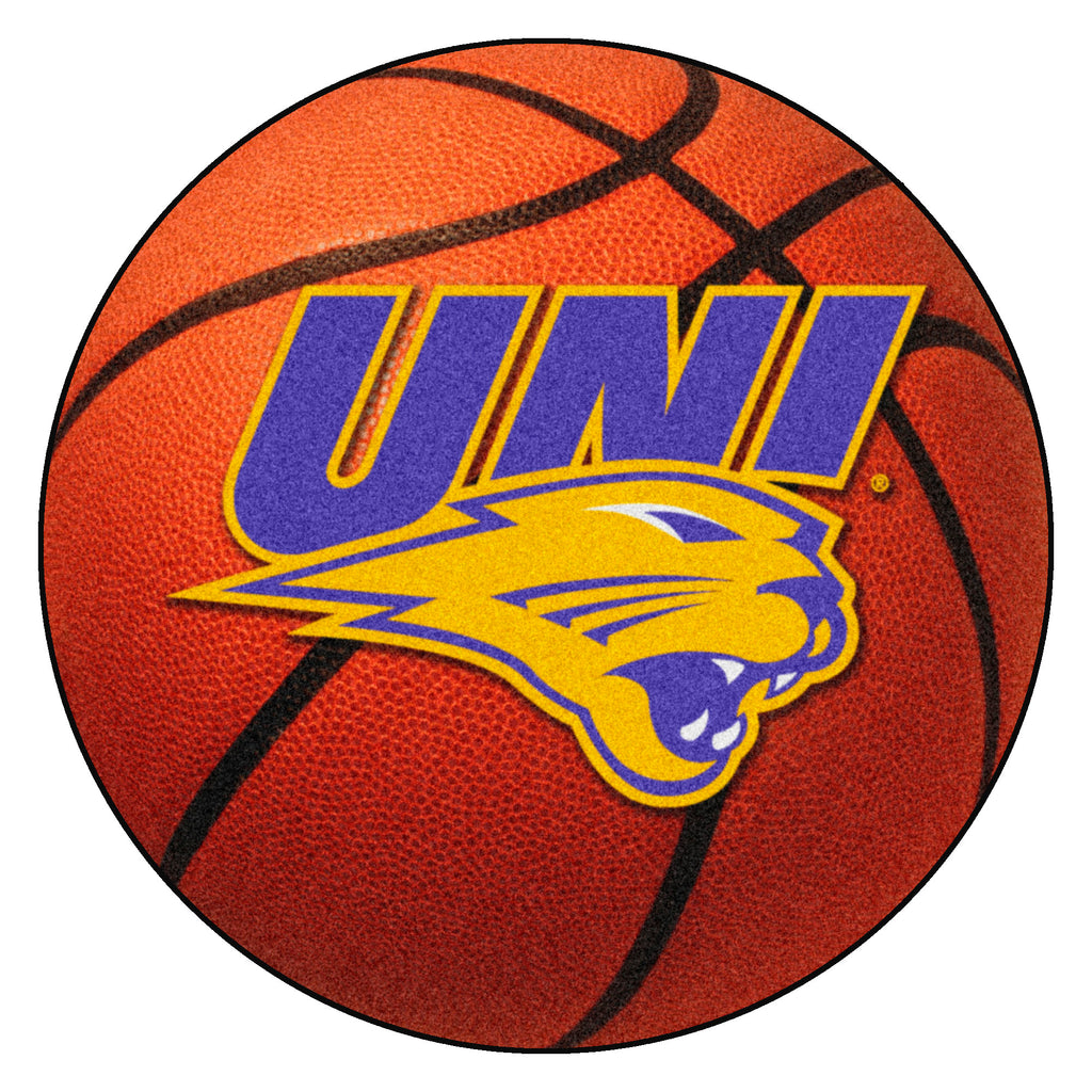 "University of Northern Iowa Basketball Mat 27"" diameter"""