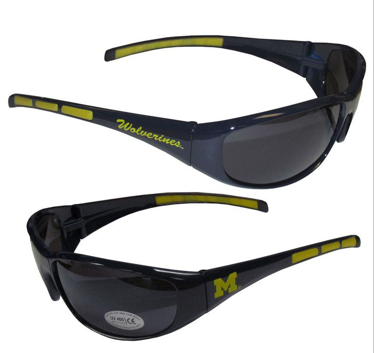Michigan Wolverines Sunglasses - Wrap