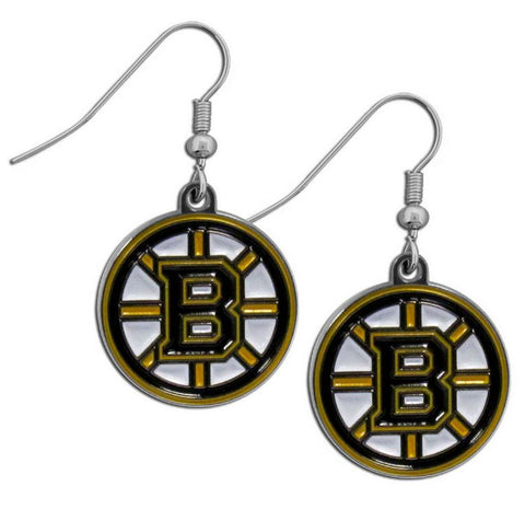 Boston Bruins Earrings Dangle Style Special Order