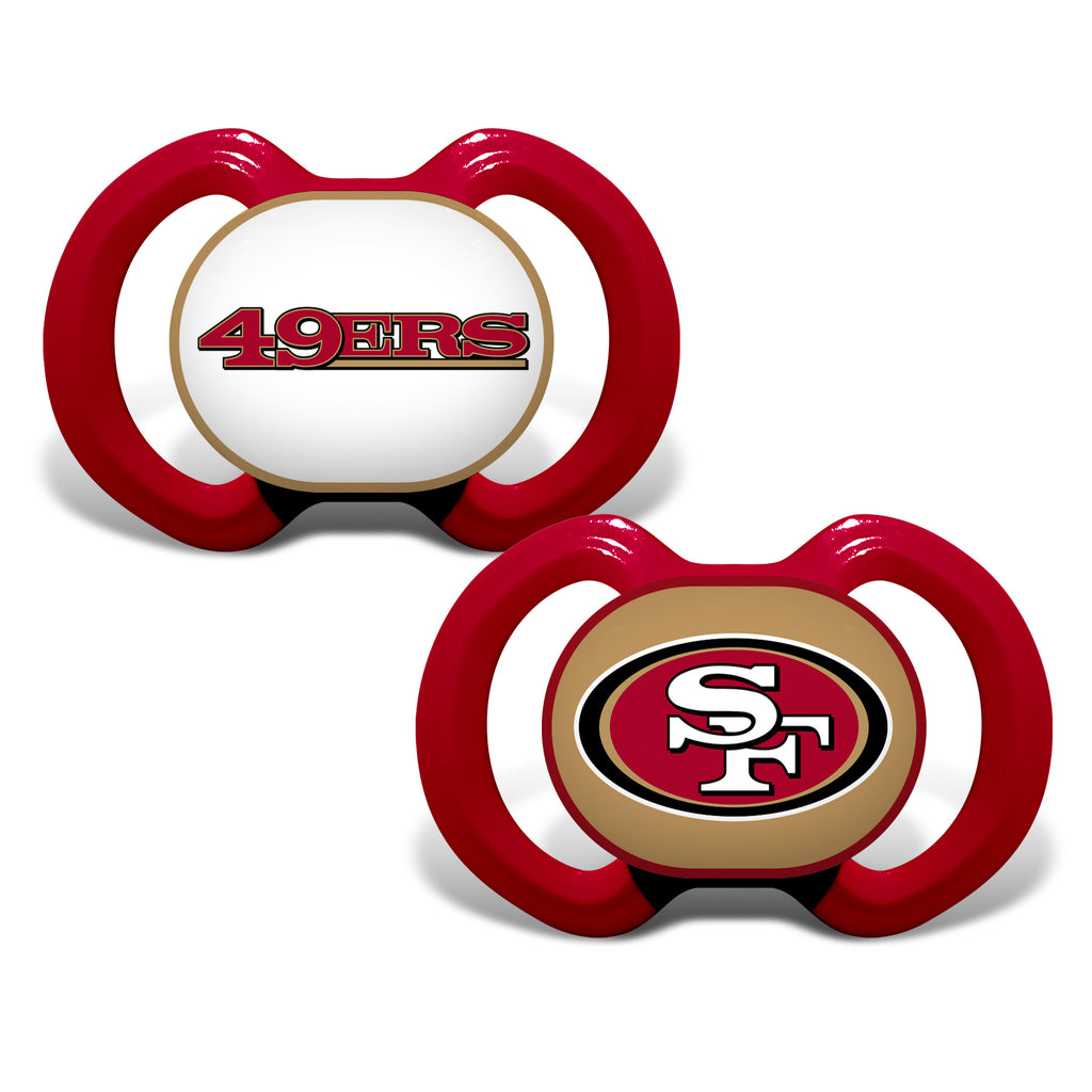 San Francisco 49ers Pacifier 2 Pack Alternate