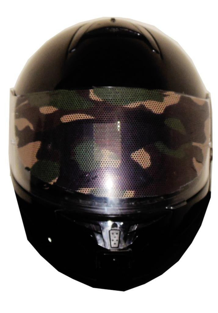 Camo Motorcycle Helmet Visor Sticker