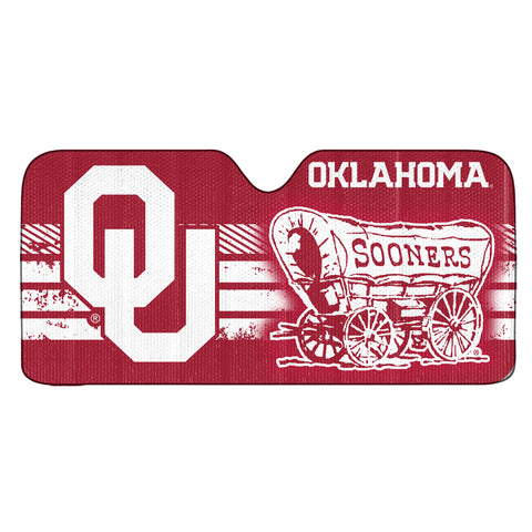 "University of Oklahoma Auto Shade 59"" x 29.5"" - Primary Logo, Alternate Logo and Wordmark"