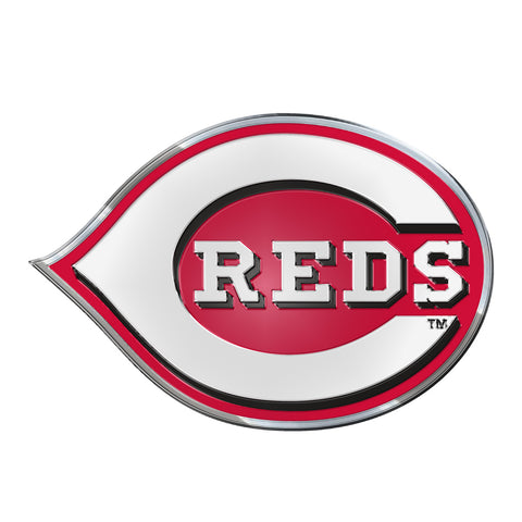 "MLB - Cincinnati Reds Embossed Color Emblem 3.25"" x 3.25"" - ""C REDS"" Primary Logo"
