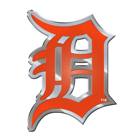 "MLB - Detroit Tigers Embossed Color Emblem 3.25"" x 3.25"" - ""Stylized D"" Primary Logo"