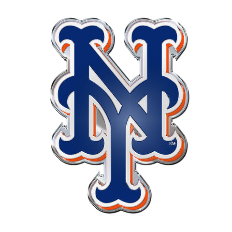 "MLB - New York Mets Embossed Color Emblem 3.25"" x 3.25"" - ""NY"" Alternate Logo"