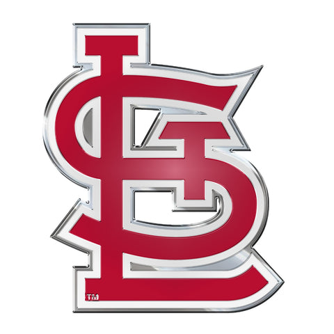 "MLB - St. Louis Cardinals Embossed Color Emblem 3.25"" x 3.25"" - ""STL"" Alternate Logo"