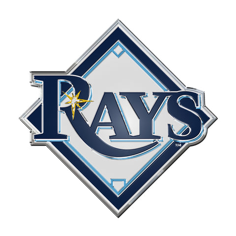 "MLB - Tampa Bay Rays Embossed Color Emblem 3.25"" x 3.25"" - ""Baseball Diamonds 'Rays'"" Primary Logo"