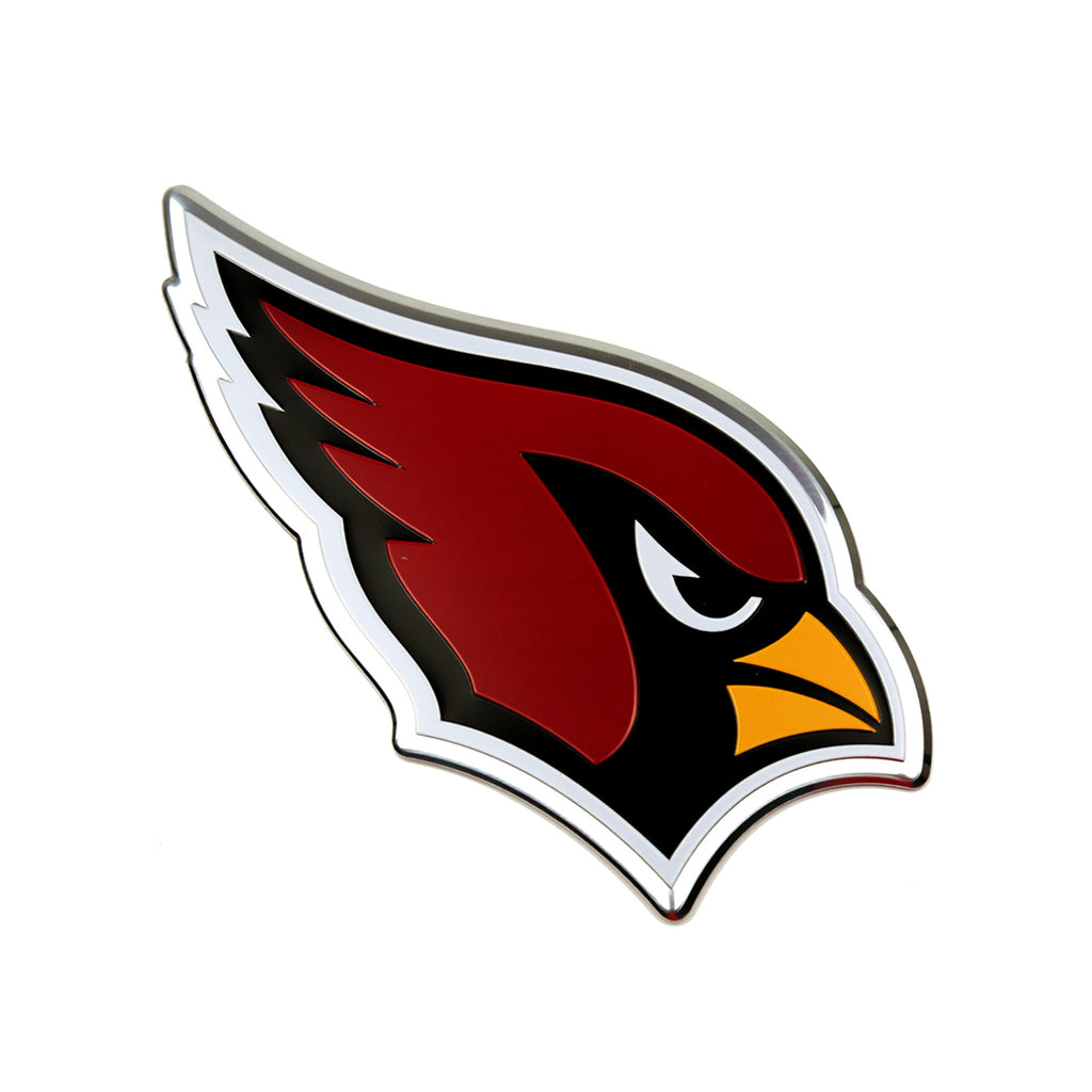 "NFL - Arizona Cardinals Embossed Color Emblem 3.25"" x 3.25"" - ""Cardinal"" Logo"
