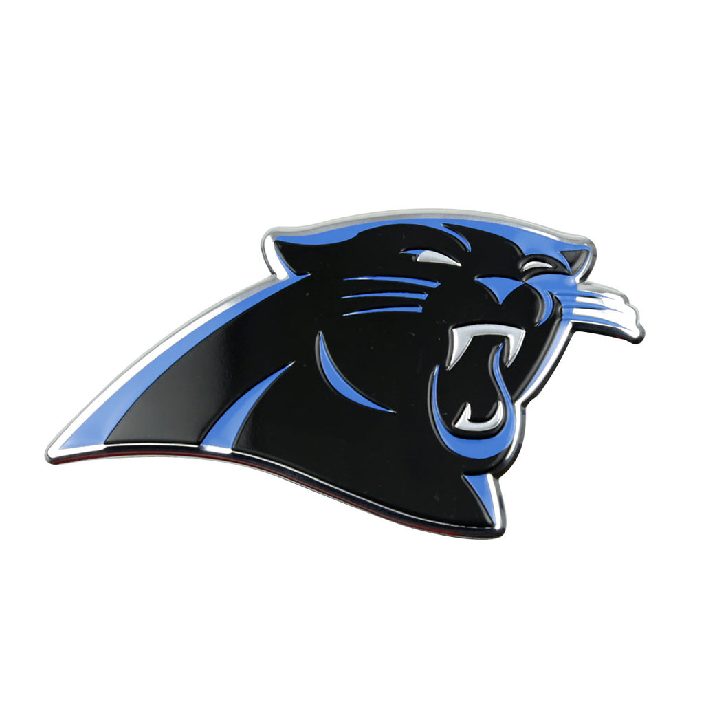 "NFL - Carolina Panthers Embossed Color Emblem 3.25"" x 3.25"" - ""Panther"" Logo"