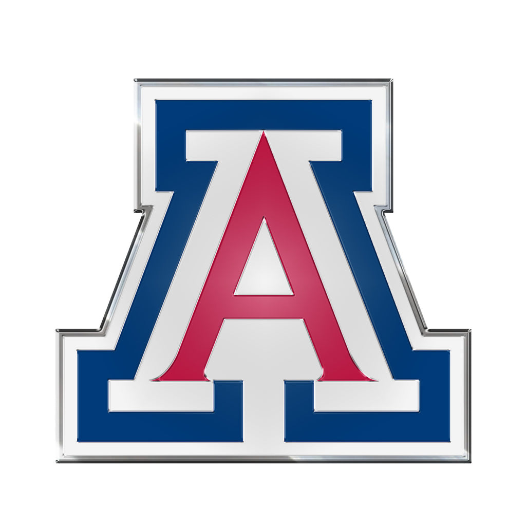 "University of Arizona Embossed Color Emblem 3.25"" x 3.25"" - ""A"" Primary Logo"