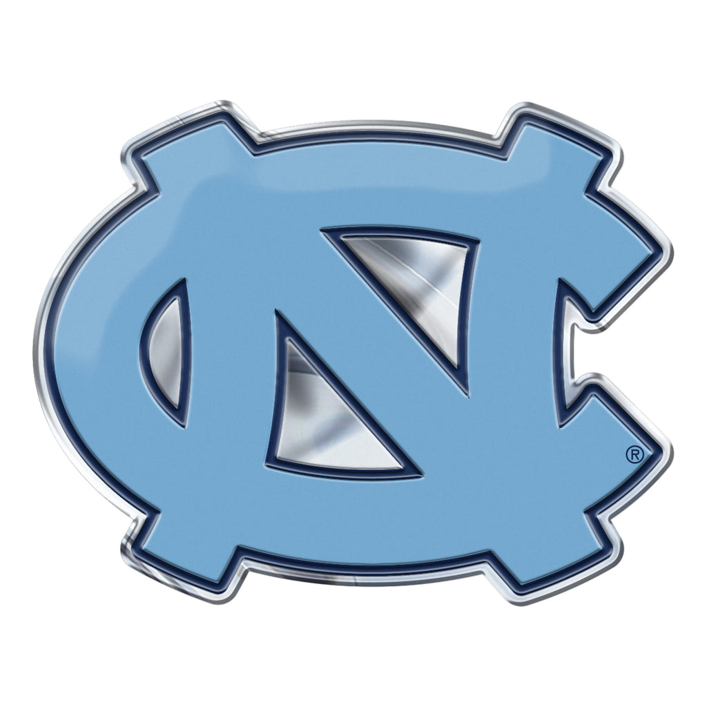 "University of North Carolina - Chapel Hill Embossed Color Emblem 3.25"" x 3.25"" - ""NC"" Logo"