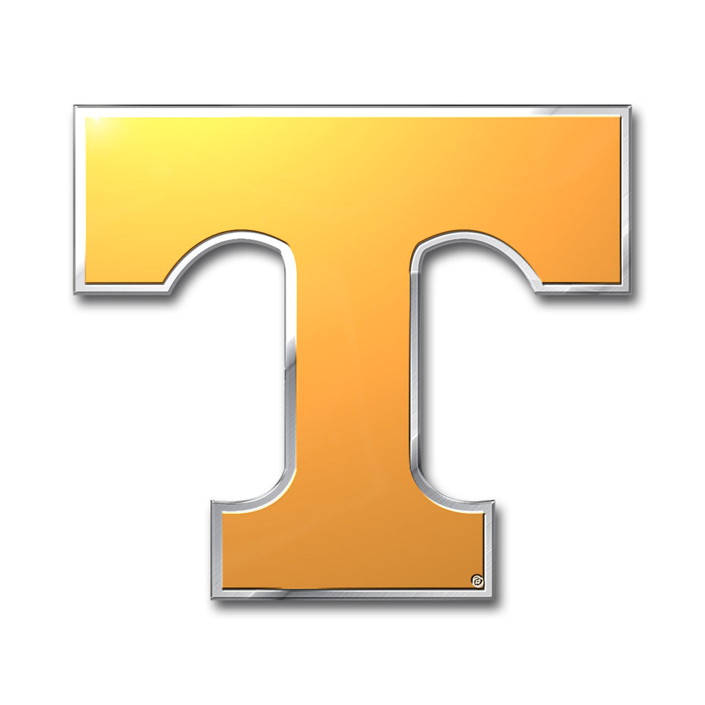 "University of Tennessee Embossed Color Emblem 3.25"" x 3.25"" - ""Power T"" Logo"