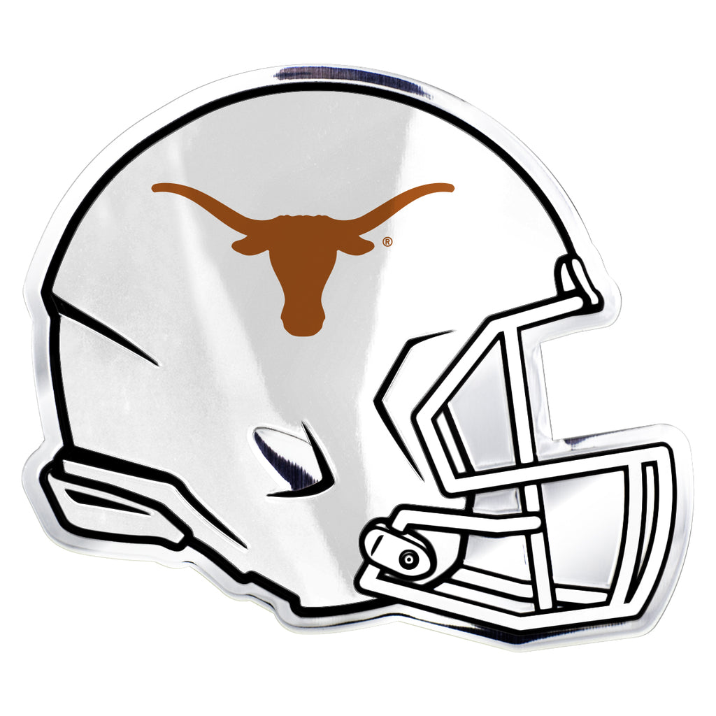 "University of Texas Embossed Helmet Emblem 3.25"" x 3.25""- ""Longhorn"" Logo"